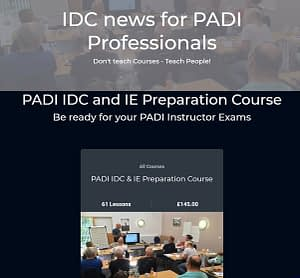 PADI IDC and IE Preparation Course
